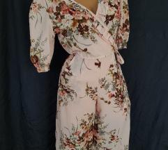 Vintage pink wrap kombinezon S/M NOVO
