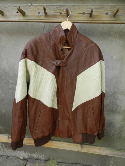 Vintage muska jakna prirodna koža Xl/XXl