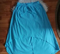 Tirkizno plava suknja