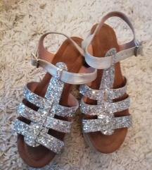 Sandale srebrne 38