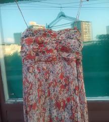 Zara maxi haljina od svile,NOVO,snizenje