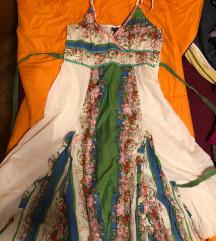 prelepa sarena haljina M/L velicina