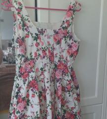 Fishbone floral haljina M