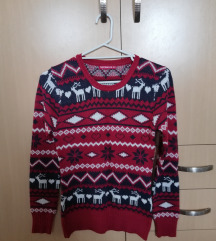 Bordo teget džemper sa irvasima