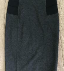 Uska suknja do kolena sive boje SANDRO FERRONE