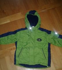 Zelena zimska jakna za dete od 2god