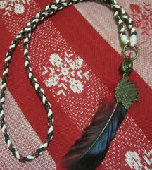 Ogrlica BOHO - indijanska sa priveskom poglavice