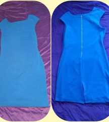AKCIJA!Kraljevsko plava haljina, nova,XL