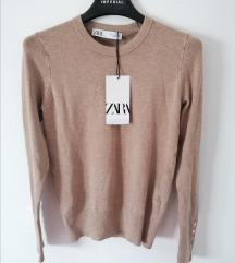 ZARA džemper sa dugmićima na rukavima