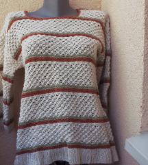 Prolećno-jesenji boho džemperak UNIKAT