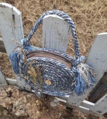 Mornarsko plava torba od jute
