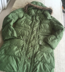 Zimska zelena topla jakna