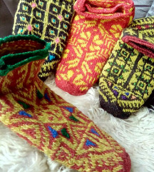Etno carape od 100% prirodne vune
