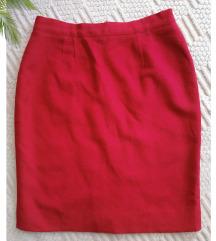 Kostim suknja ruž crvene boje 🌿