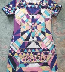 Haljina grometrijski print s-m