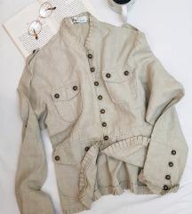 * Lanena krem jaknica - Nova! *