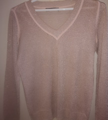 Roze svetlucavi džemperic Mango