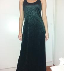Crna NIkolas haljina od pliša