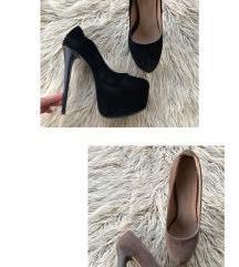 Set crne + tamno bež cipele