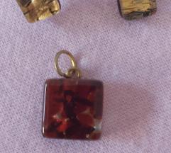 Mindjuse i ogrlica privezak murano.staklo