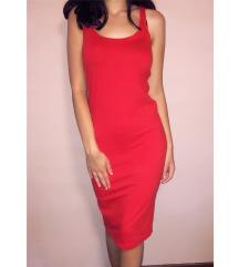 Crvena pamučna haljina