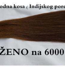 100% Prirodna kosa ( Indijskog porekla)
