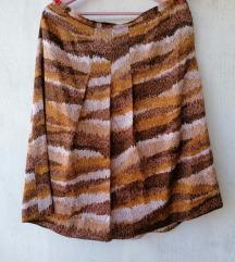 Vintage sarena midi suknja XL AKCIJA