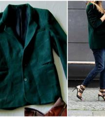 Vintage zeleni sako od RUNSKE vune M