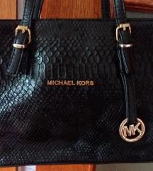 Michael Kors crna torba sa kroko printom
