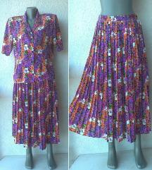 komplet bluza i plisirana suknja br 40 INEX