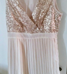 Orsay zlatna haljina sa sljokicama