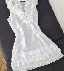 Bela haljina sa karnerima SNIZENO