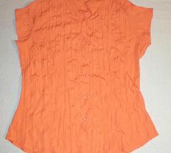 Letnja narandzasta kosulja na kratke rukave