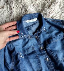 Košuljica od teksasa za curice, kao nova 128/134