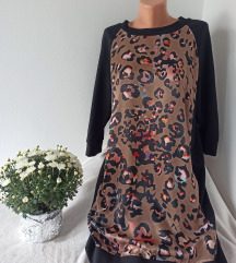 Prelepa animal print haljina vel M/L