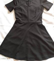 H&M crna haljina kratkih rukava