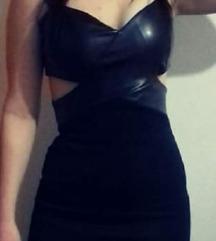 Sad 1500Crna kožna haljina