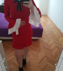 Elegantna crvena haljina sa etiketom -NOVO