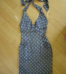 VIVIENNE WESTWOOD sivo-bela haljina