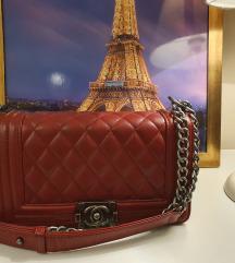 Chanel boy bag crvena