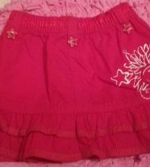 JSP crvena suknja za bebe devojcice 6-9 meseci