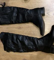 Crne duge cizme od eko koze