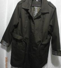 NOVA duža lagana pamučna braon jaknica 52-54