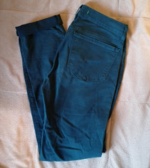 Tamne smaragdno plave pantalone
