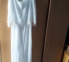 Duga letnja bela haljina za plazu toooop