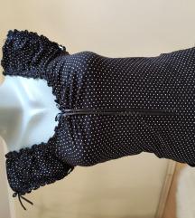 Majica - crna sa belim tufnicama
