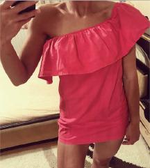 Pink haljinica sa risem