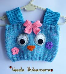 Prsluk za bebe - sovica plava