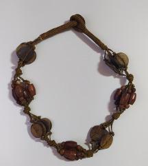 Ogrlica drvene perle