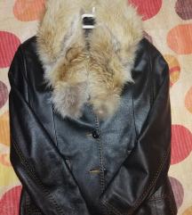 Snizenje!!! Kozna jakna sa krznom